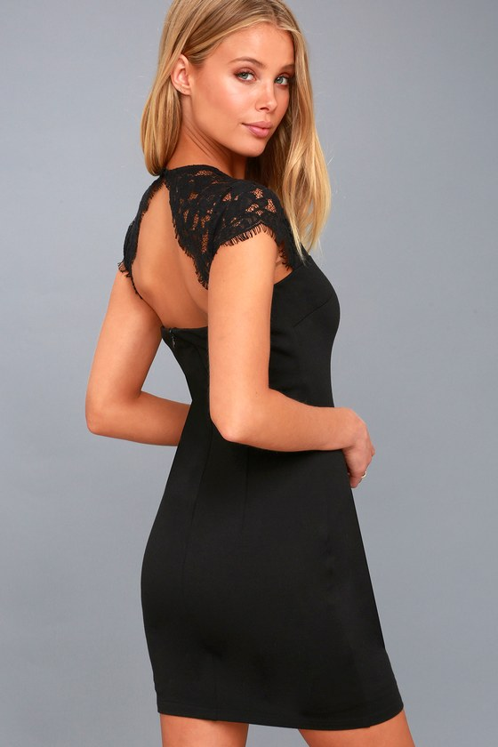 Turning Heads Black Lace Bodycon Dress