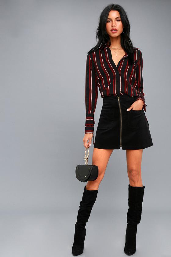 7d7ca9ddaa Cute Corduroy Mini Skirt - Black Corduroy Mini Skirt