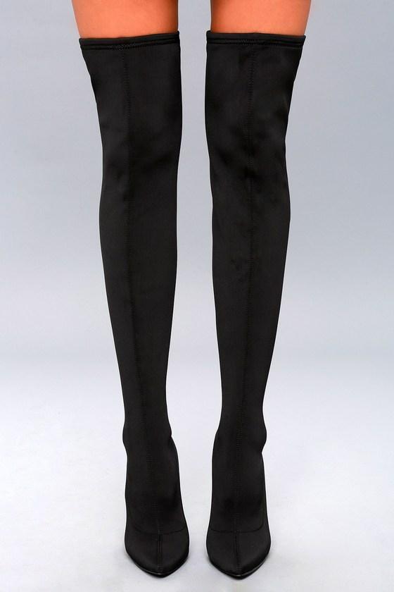 43abaf2254f Steve Madden Slammin - Over-the-Knee Boots - Black Boots