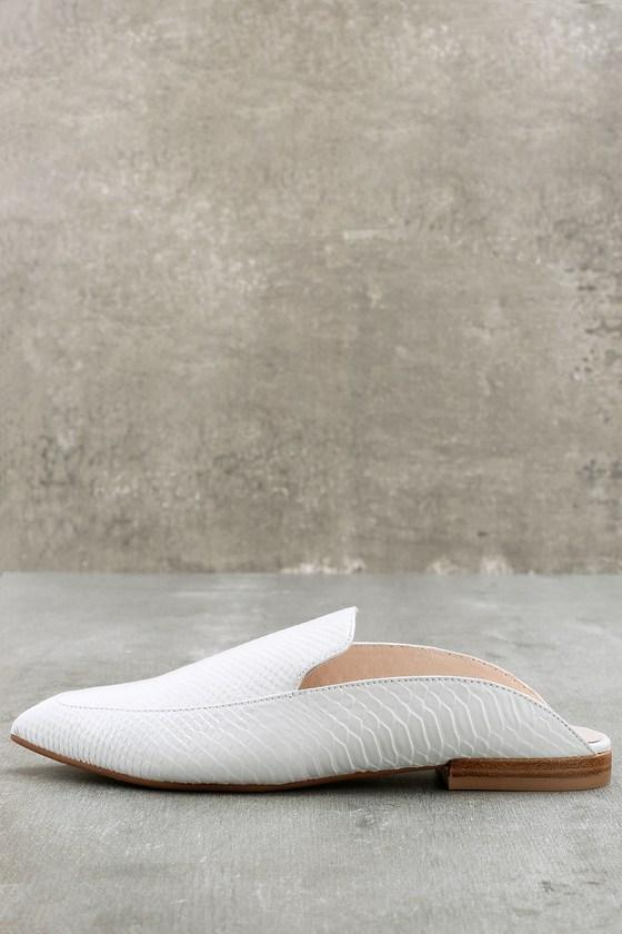 da10d10d4acc Kristin Cavallari Capri - White Leather Mules - White Slides