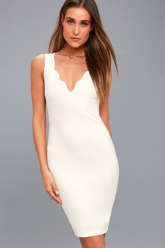 Watch for Curves White Sleeveless Bodycon Dress 6