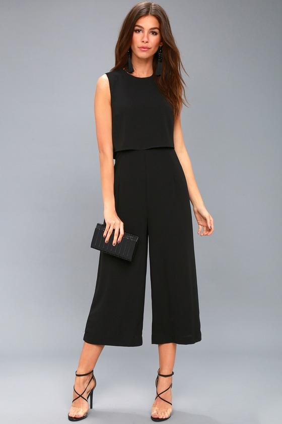 cdbfe7c5d2 Trendy Backless Jumpsuit - Culotte Pants Black Jumpsuit