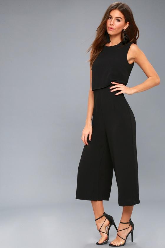 72300e91159f Trendy Backless Jumpsuit - Culotte Pants Black Jumpsuit