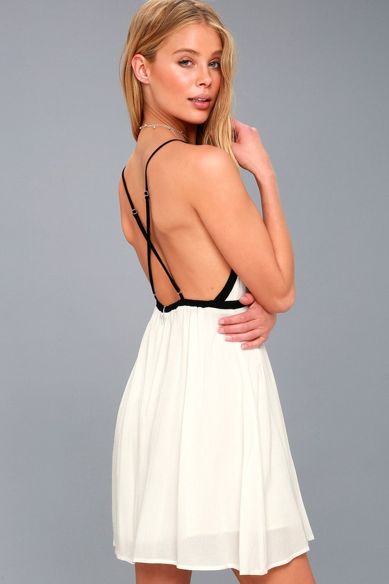 Austen White Backless Mini Dress