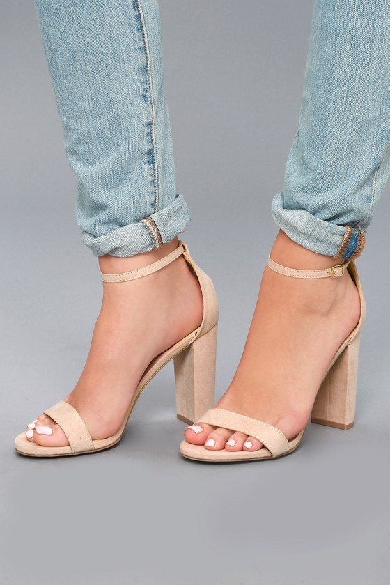 e3a7fc55ee3 Sexy Nude Heels - Ankle Strap Heels - Heels for Women - Lulus.com