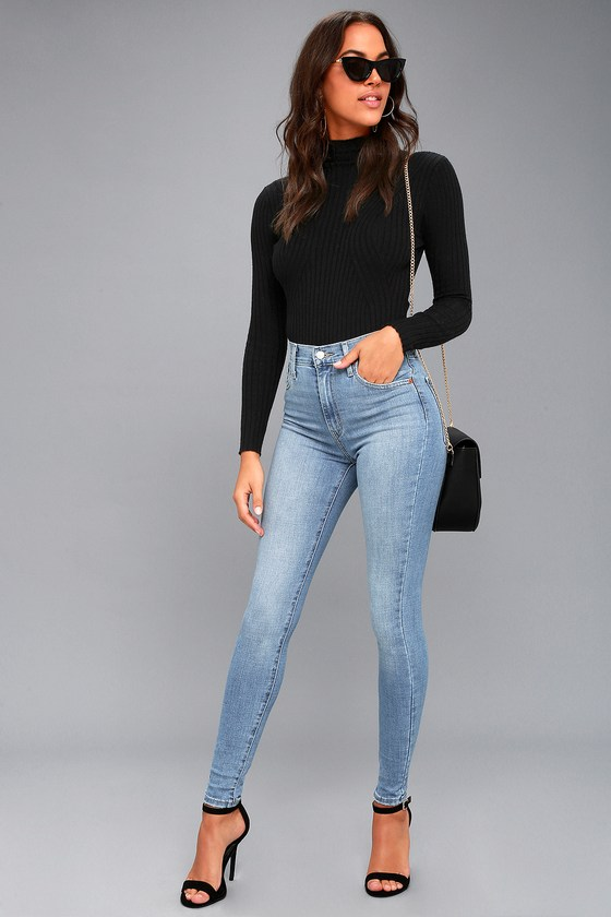 0119e309 Levi's Mile High Super Skinny - Light Wash Jeans