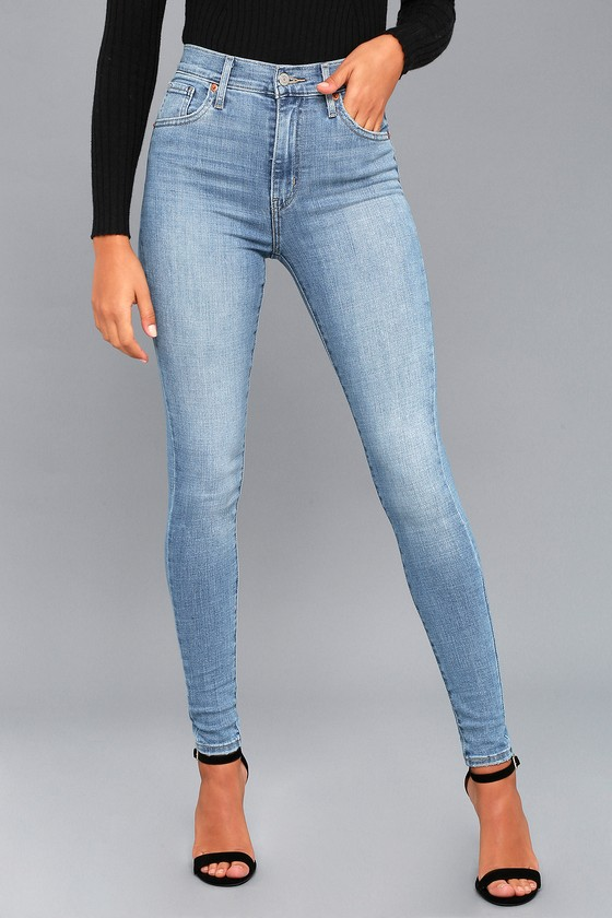 Levi's Skinny Jeans Super Mile Light High Wash rZAqr7Fw6