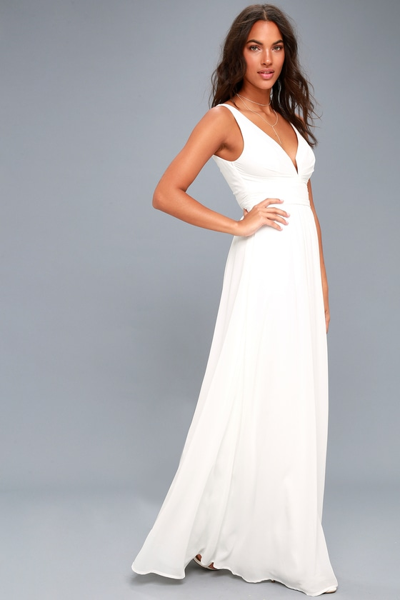 Leading Role White Maxi Dress