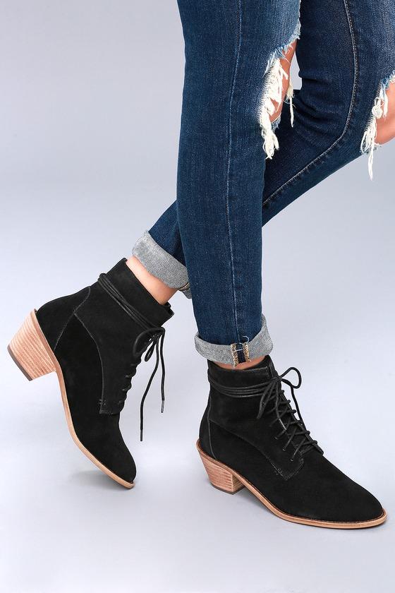 3c97b3cb04a Kelsi Dagger Kingsdale Boots - Genuine Suede Lace-Up Boots