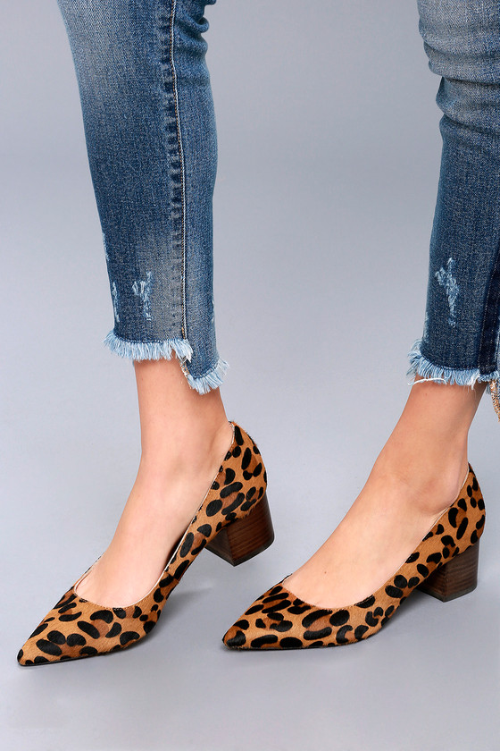 b84c4d53e100 Andorra Leopard Pony Hair Pumps