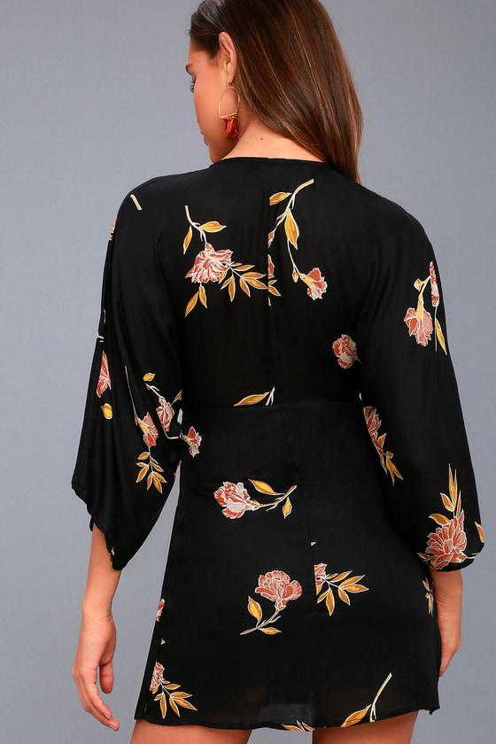 Amuse Society Wayfair Floral Print Dress Long Sleeve Dress