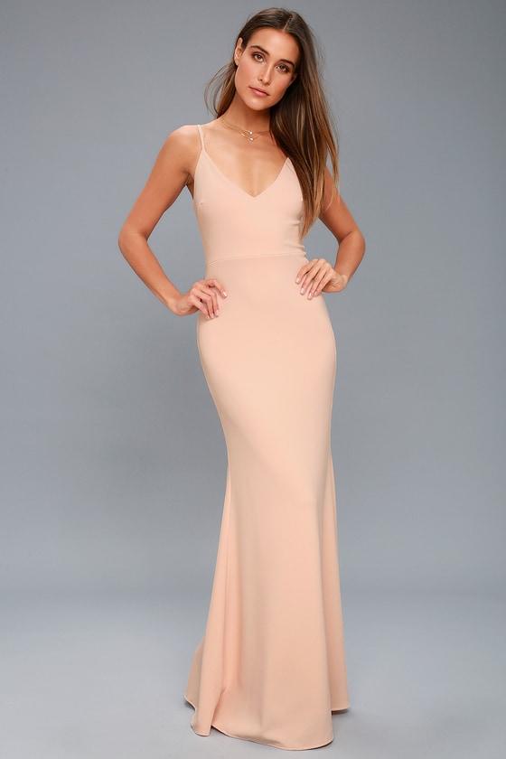 Infinite Glory Blush Pink Maxi Dress - Lulus