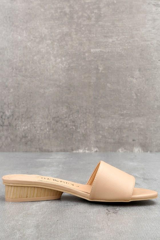 fd9abea5c2ce Chinese Laundry Pattie Nude Sandals Satin Sandals Slide Sandals 4900 ...