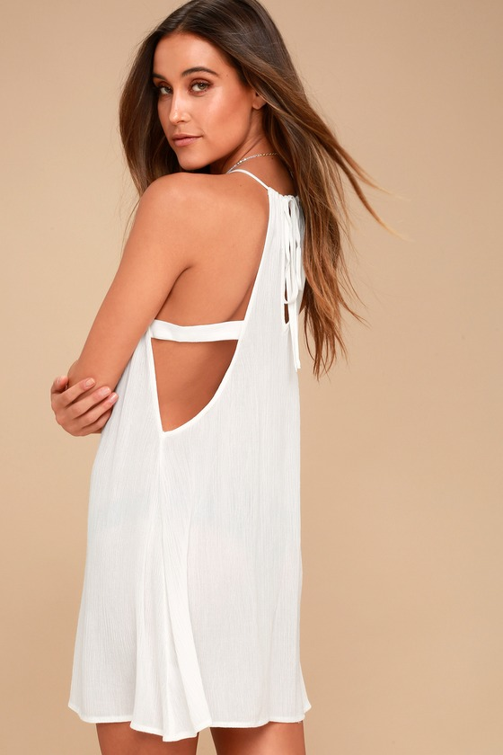 eae908cd3b5689 Cute Swim Cover-Up - Beachwear - White Swim Cover-Up