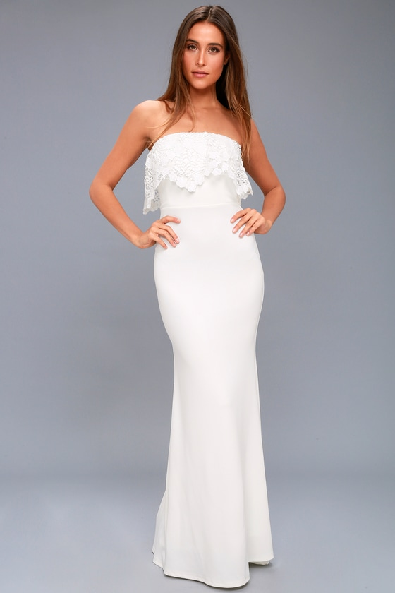White Stretch Maxi Dress