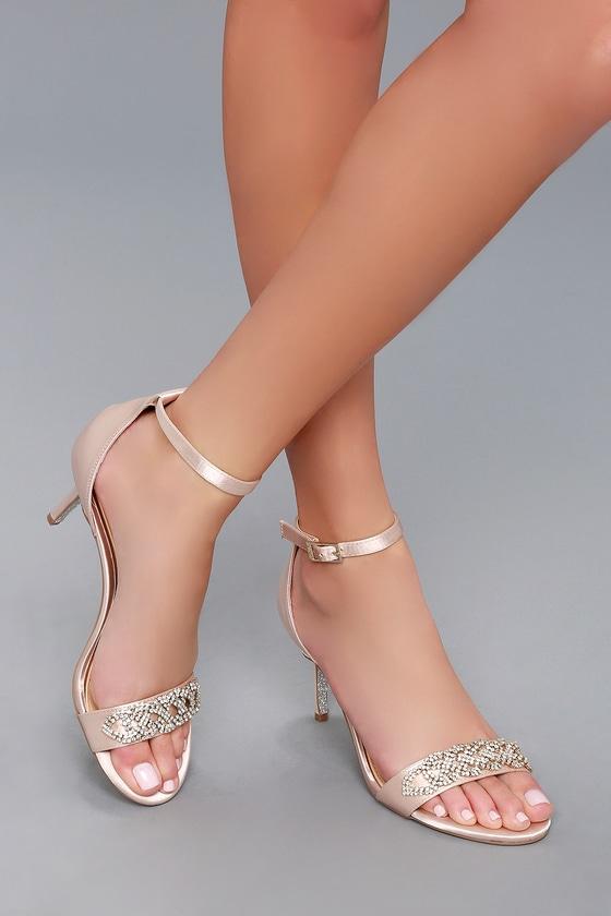 169374534744 Jewel by Badgley Mischka Alana - Champagne Satin Heels