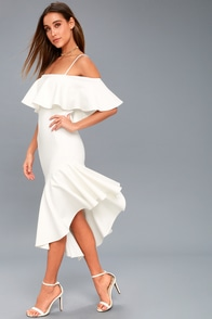 Chic White Dress Backless Dress Lwd Cape Dress