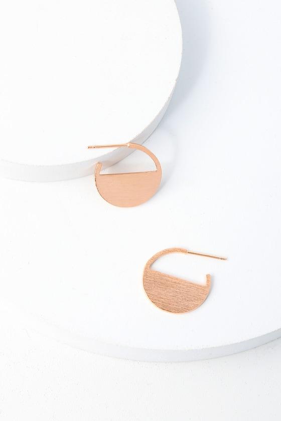 Minimal rose gold earrings geometric earrings for Deco maison rose gold