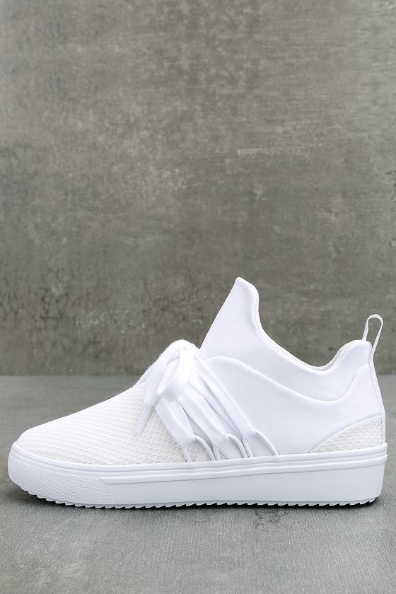 9c333dd001e691 Steve Madden Lancer - Street Style Sneaker - White Sneakers