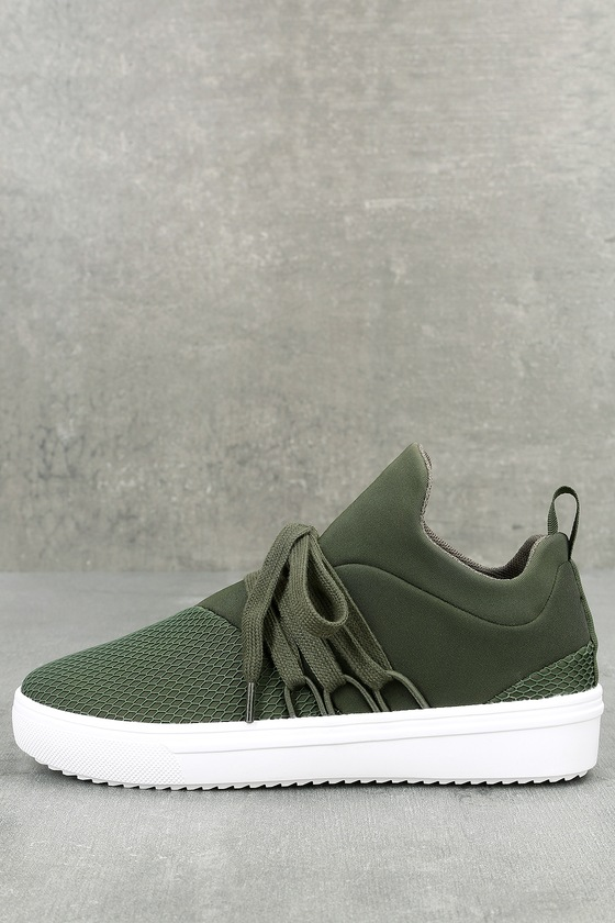 a40992fb90a Steve Madden Lancer - Street Style Sneaker - Olive Sneakers