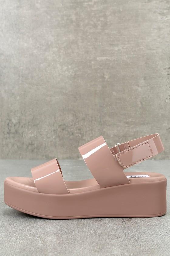f05741844f56 Steve Madden Rachel - Dark Blush Leather Flatform Sandals