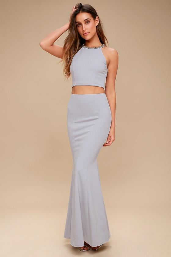 Rhinestone White Dress