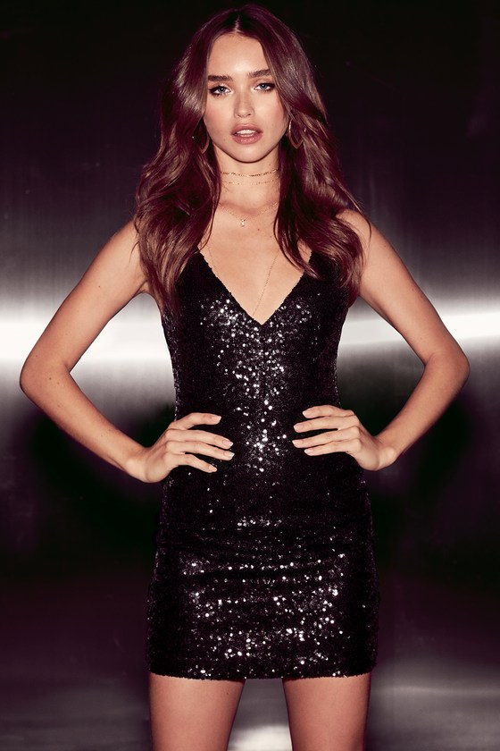 9e1ff921738a Stunning Sequin Dress - Black Dress - Bodycon Dress - LBD