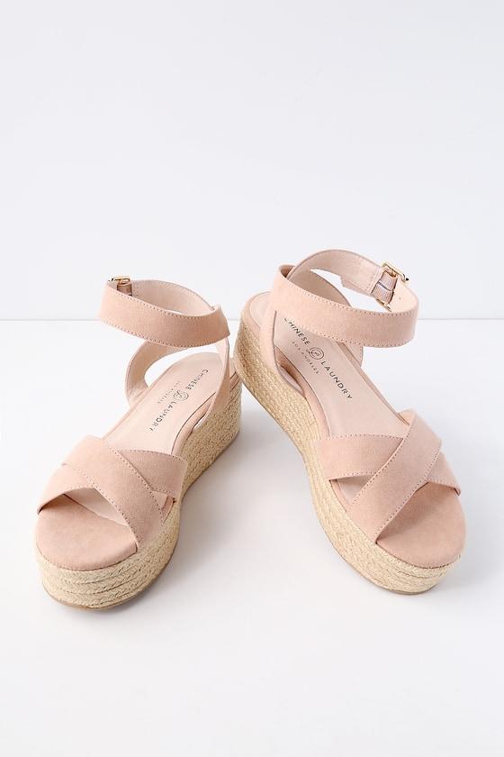 004f12d12f9a Chinese Laundry Zala - Dark Nude Sandals - Flatform Sandals