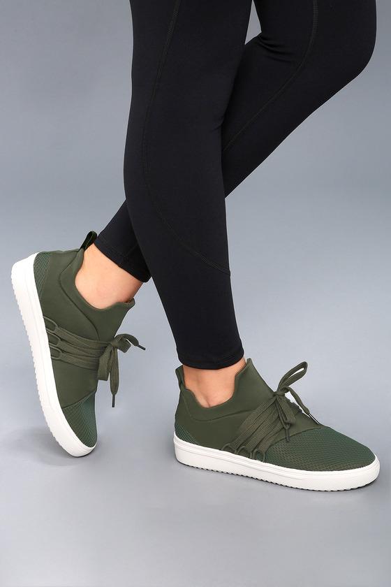 46b90bf234d Steve Madden Lancer - Street Style Sneaker - Olive Sneakers