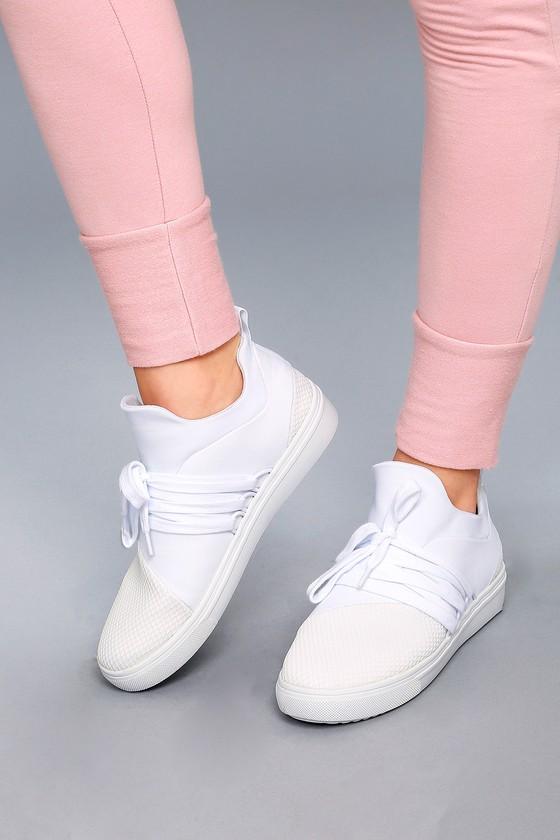 9c4d30f79cd Steve Madden Lancer - Street Style Sneaker - White Sneakers