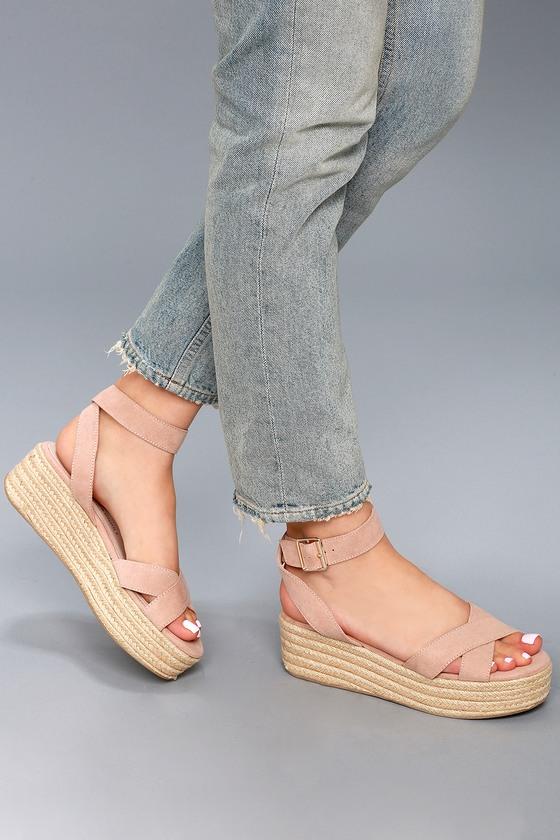 6a344d6d711 Chinese Laundry Zala - Dark Nude Sandals - Flatform Sandals