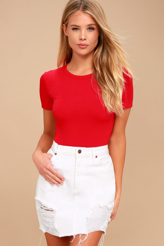 bf4d018b02 Cute Red Bodysuit - Short Sleeve Bodysuit