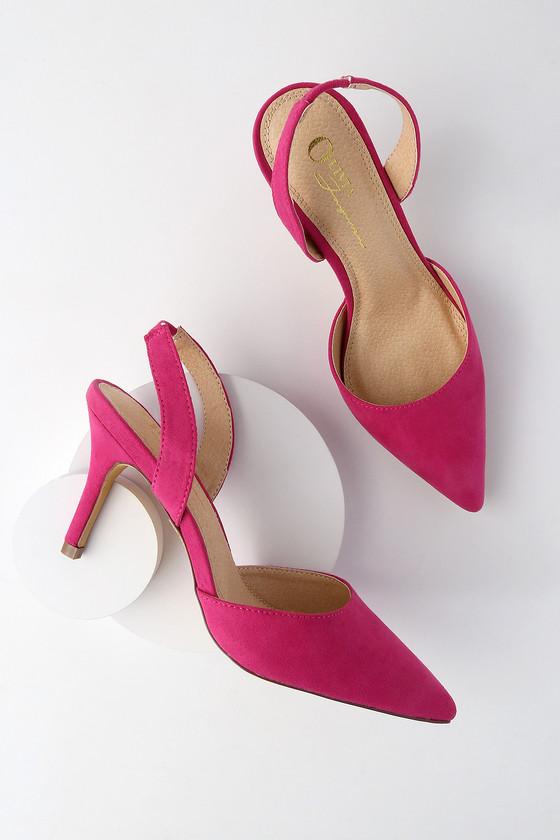 Lulus Evita and Slingback Pointed Toe Pumps - Lulus