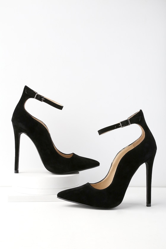 3b7cf257647 Chic Vegan Heels - Black Pumps - Pointed Toe Pumps