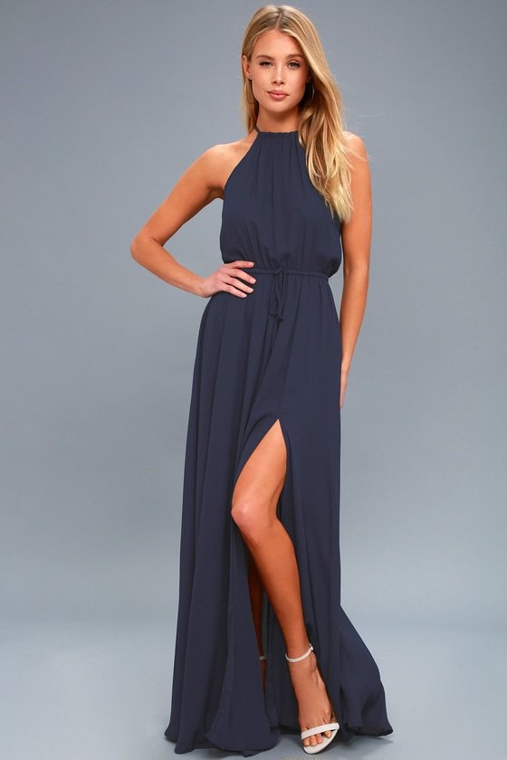 Sale alerts for  Essence of Style Navy Blue Maxi Dress - Covvet