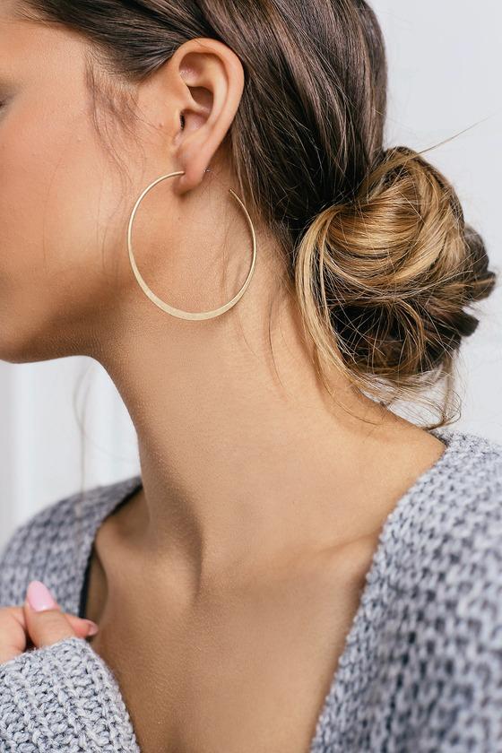 Alter Ego Gold Hoop Earrings - Lulus