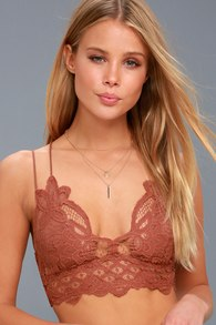 18160f2e10 Next to Nothing Peony - Pink Bralette - Pink Lace Bralette