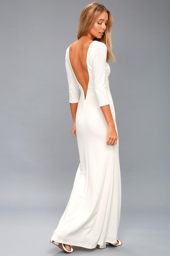 Elegant White Long Maxi Dresses