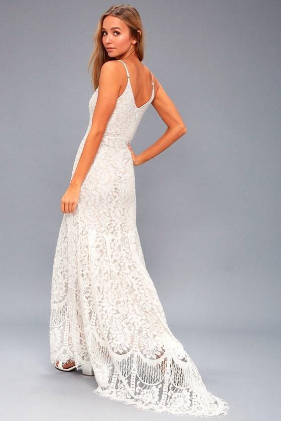 22397320472 Romantic Lace Dress - Bridal Dress - Lace Maxi Dress