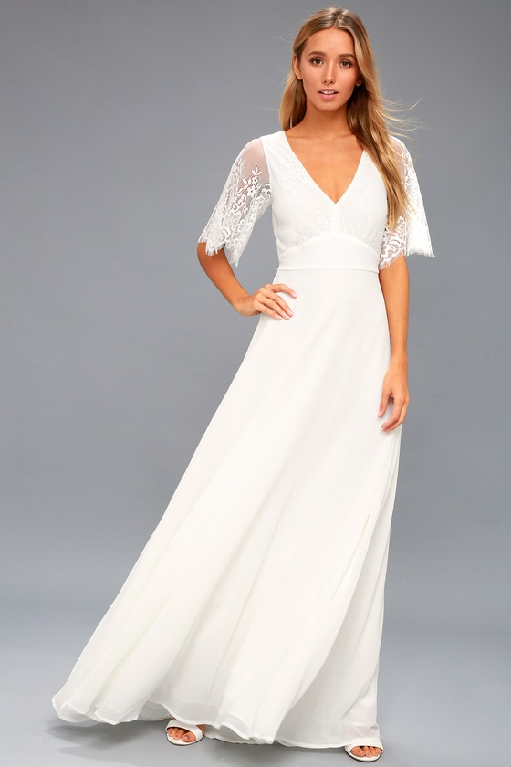 fb807b86df Romantic Lace Dress - Bridal Dress - White Maxi Dress