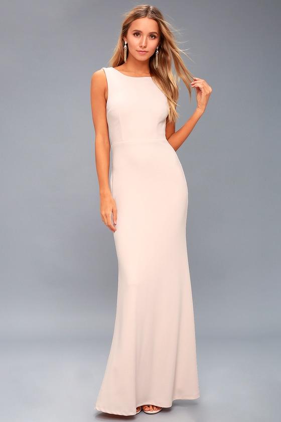 d02bbddb6cd Lovely Blush Pink Dress - Maxi Dress - Backless Dress