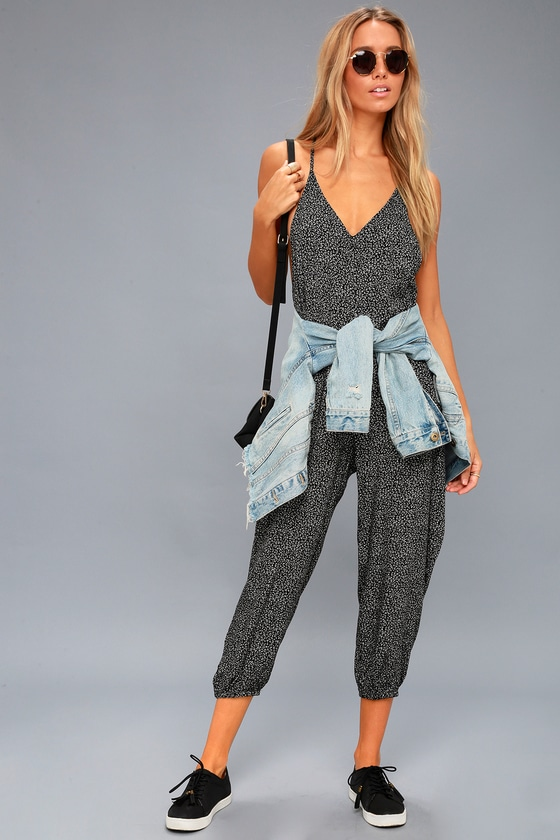 6f6c8480053 Embarcadero Black and White Print Midi Jumpsuit - Lulus.com