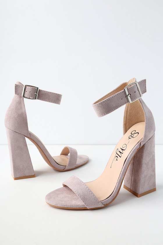 8b1bb12771 Classic Lilac Heels - Vegan Leather Ankle Strap Heels