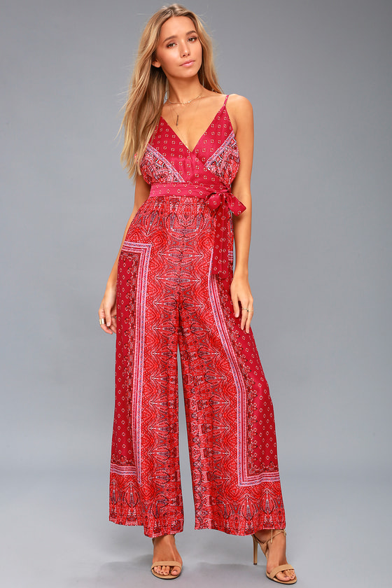 506d53d8b87 Free People Cabbage Rose - Pink Printed Jumpsuit