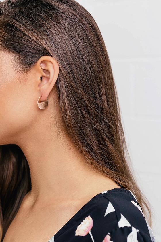 18e0cd2810eb54 Minimal Rose Gold Earrings - Geometric Earrings