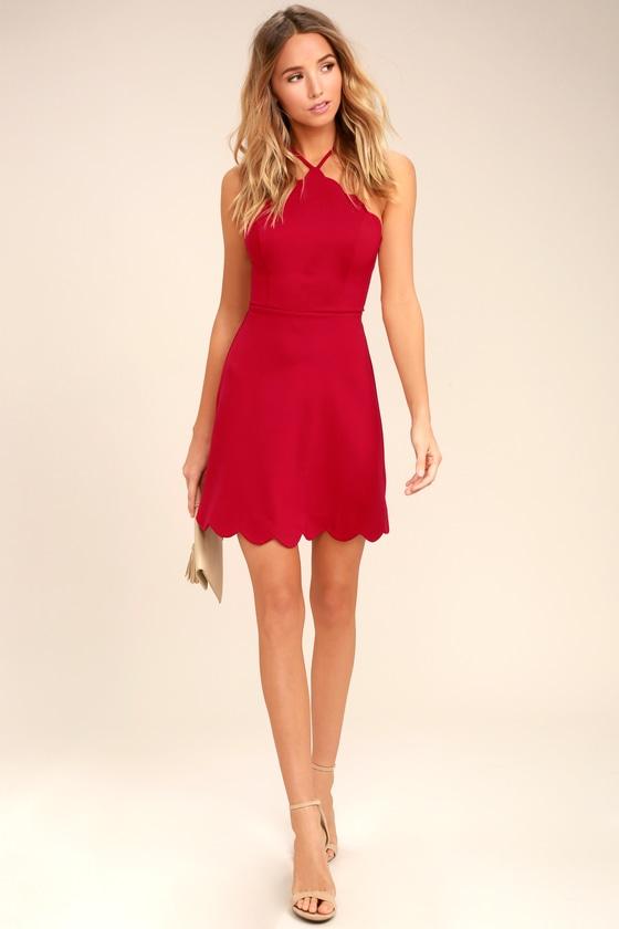 421605d281c Sexy Red Dress - Backless Dress - Skater Dress -  54.00