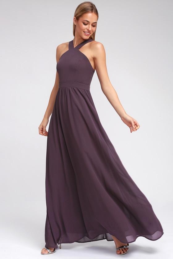 Air of Romance Dusty Purple Maxi Dress - Lulus