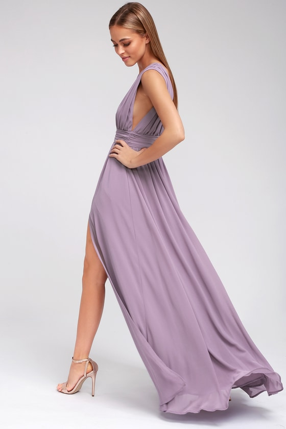 366f785f6add Dusty Purple Gown - Maxi Dress - Sleeveless Maxi Dress -  84.00