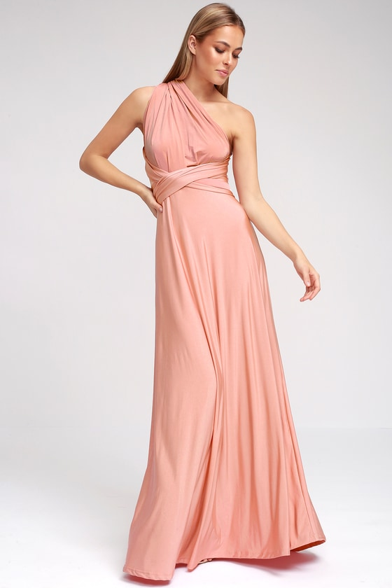 Convertible Dress - Blush Pink Maxi Dress - Infinity Dress eab7abd32edf