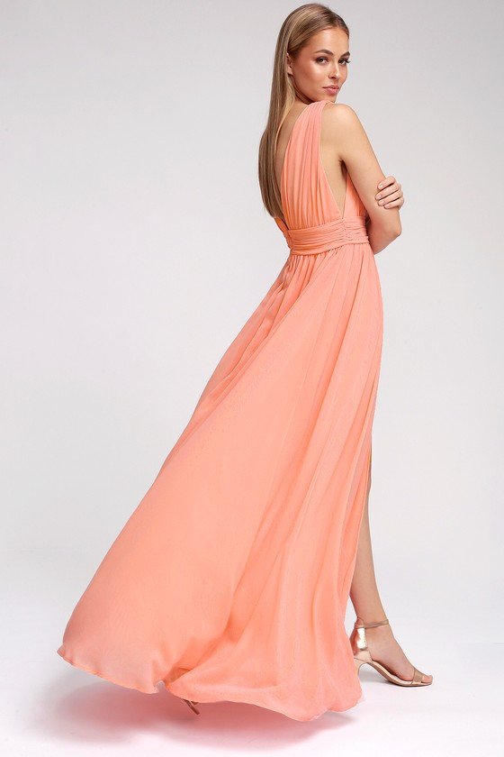 Fashion week Pink pale maxi dresses for girls